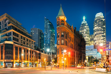 Photo sur Toile Toronto Toronto downtown by sunrise