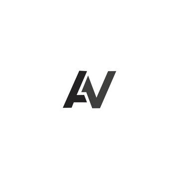 AV A V Letter Logo Design Template