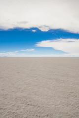 Salar de Uyuni, the world's largest salt flat area, Altiplano, Bolivia, South America.