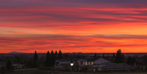 Foto op Aluminium Koraal sun set Sacramento