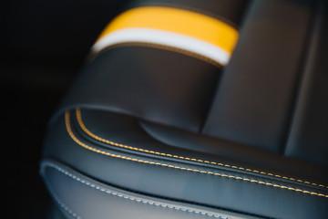 Car seat in black.