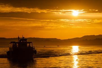 Reginas boat at Santander boat during the sunrise