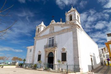 The church Igreja de Santa Maria in Lagos, Algarve, Portugal.