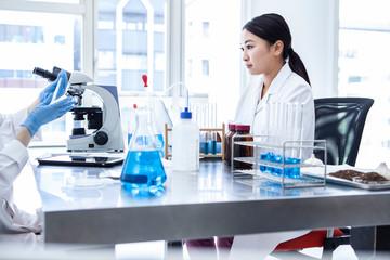 研究所の女性チーム