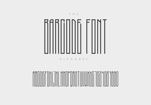 Barcode font aplhabet and numbers.