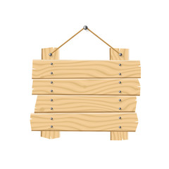 Hanging Wooden Planks Sign Board with Rope
