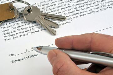 Signature of lessor