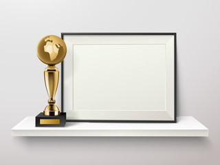 Trophy And Frame Composition