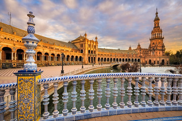 Plaza de Espana in Seville, Andalusia, Spain