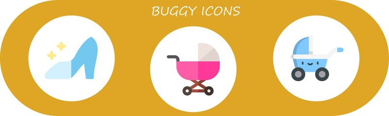 Modern Simple Set of buggy Vector flat Icons