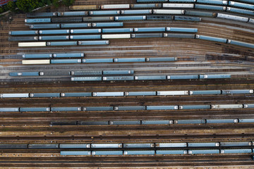 trains on the tracks in china