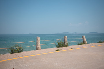 road beside the sea in china