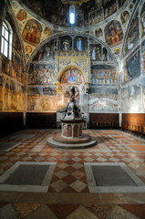 interior of church in rome, digital photo picture as a background
