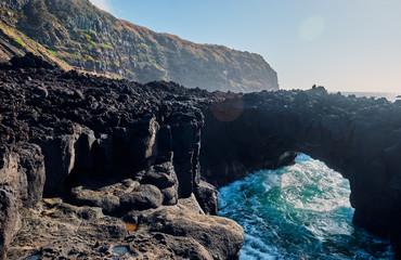Volcanic landscape. Sao Miguel Island, Azores, Portugal.