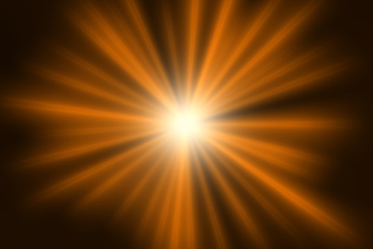 Overlay, flare light transition, effects sunlight, lens flare, light leaks. High-quality stock image of warm sun rays light effects, overlays or golden flare isolated on black background for design