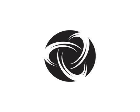 Vortex circle logo vector template