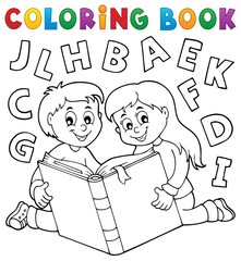 Poster For Kids Coloring book kids and literature theme