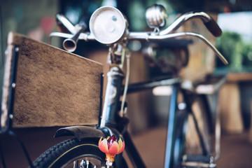 Foto op Plexiglas Fiets Closeup old rusty bicycle
