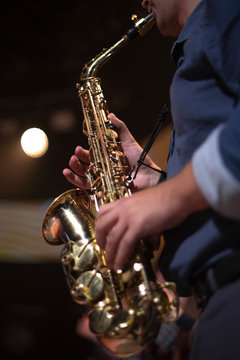 saxophone at a concert