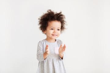 Cute funny little girl