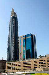 Al Hekma Tower on November 29, 2014 in Dubai, UAE