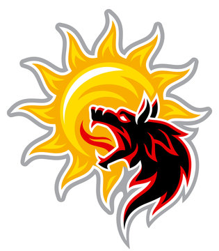 the black wolf devours the sun