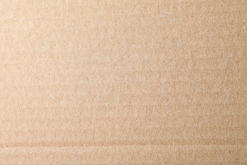 Cardboard texture background, top view and macro