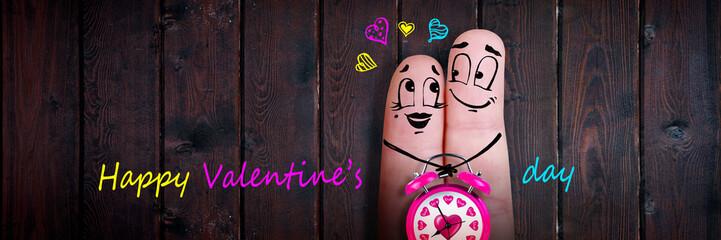 Zwei verliebte Finger