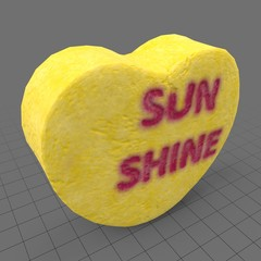 Heart candy with sunshine message