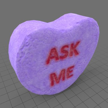Heart candy with ask me message