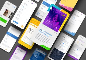 App Ui Screen Presentation Mockup