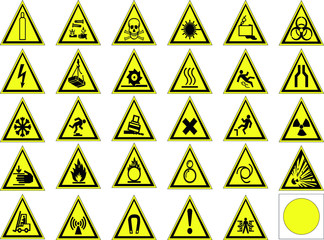 warning signs set.vector illustration
