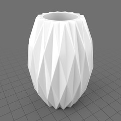 Geometric patterned vase