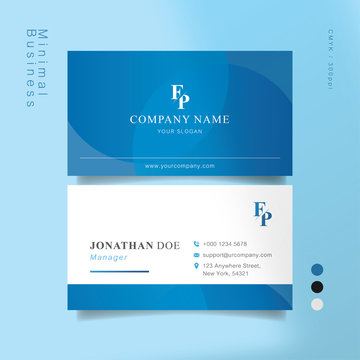 Blue and white smart business card 02
