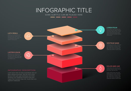 Vector Infographic layers template