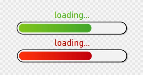 Progress loading bar. Vector illustration