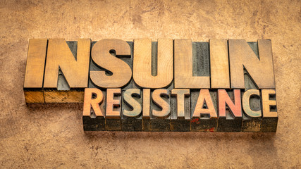 insulin resistance word abstract in wood type