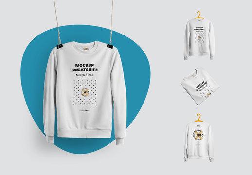 4 Mockups of Isolated Sweatshirts