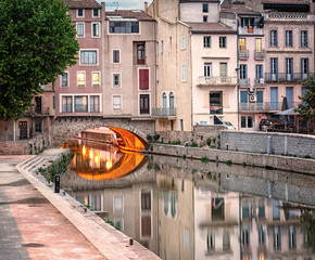 Historic old town of Narbonne, France