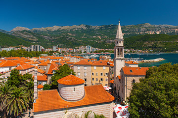 Panoramic view on the old town of Budva, Montenegro