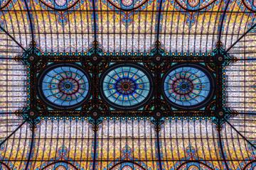 Ornate glass ceiling