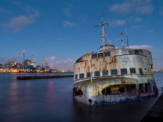 europe, UK, England, London, Woolwich Royal Iris wreck