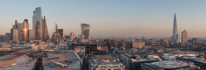 Printed roller blinds London europe, UK, England, London, City skyline from St Pauls 2020