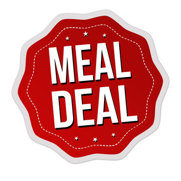 Meal deal label or sticker