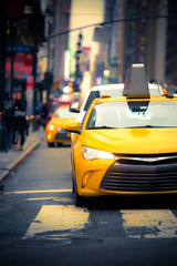 Wall Murals New York TAXI New York City Street scene with iconic yellow taxi cab
