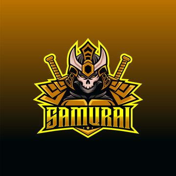 Samurai Logo design for. Samurai vector illustration. Esport logo design