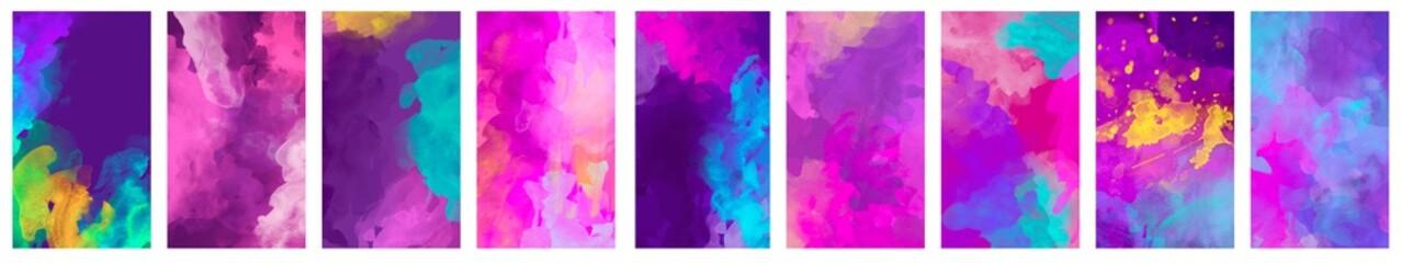 Fototapeta Big set of bright colorful watercolor background for poster, brochure or flyer obraz