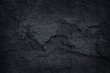 Photo sur Aluminium Cailloux Dark grey black slate stone background or texture