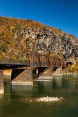 Old Railroad Bridge across the Potomac River in Harper's Ferry, West Virginia, USA