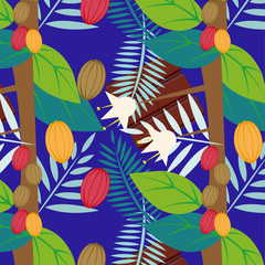 cacao_pattern_blue background